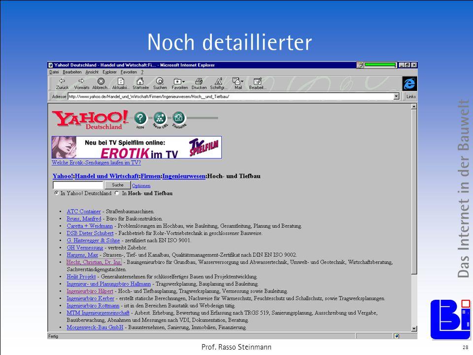 Das Internet in der Bauwelt 28 Prof. Rasso Steinmann Noch detaillierter