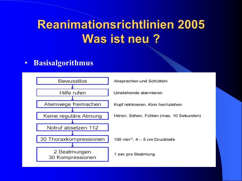 Reanimationsrichtlinien 2005 Was ist neu ? Basisalgorithmus