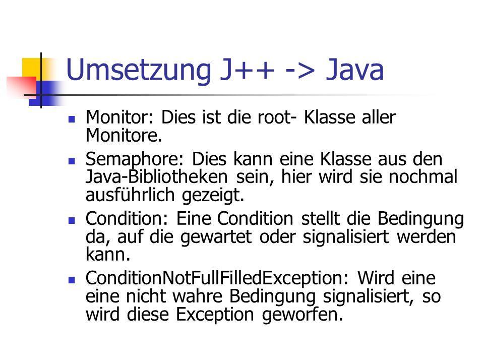 Monitor: Dies ist die root- Klasse aller Monitore.