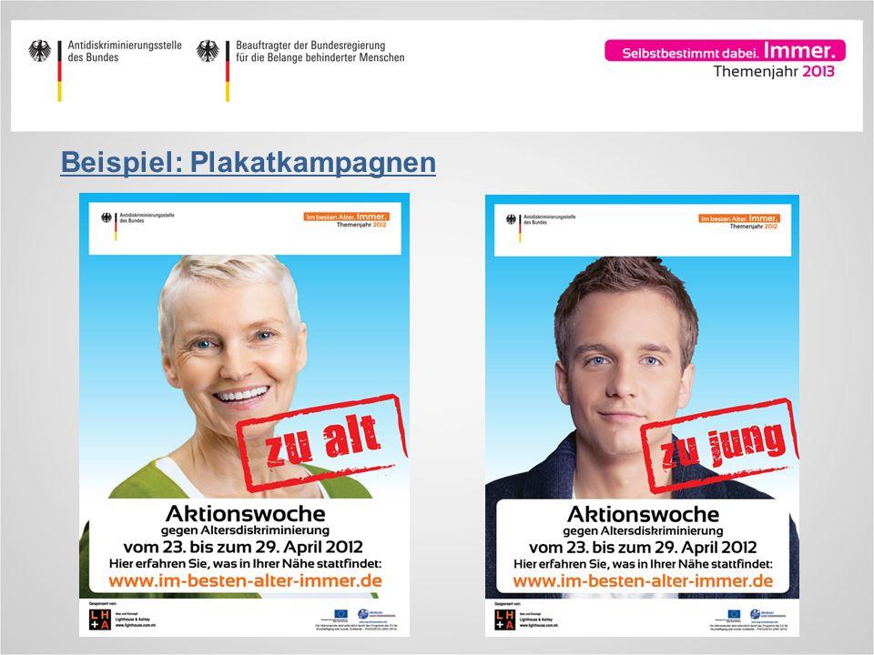 Beispiel: Plakatkampagnen