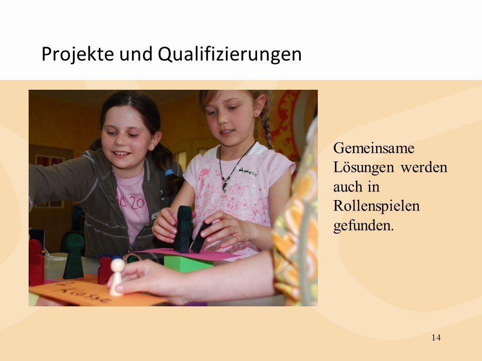 Projekte und Qualifizierungen 14 Gemeinsame Lösungen werden auch in Rollenspielen gefunden.