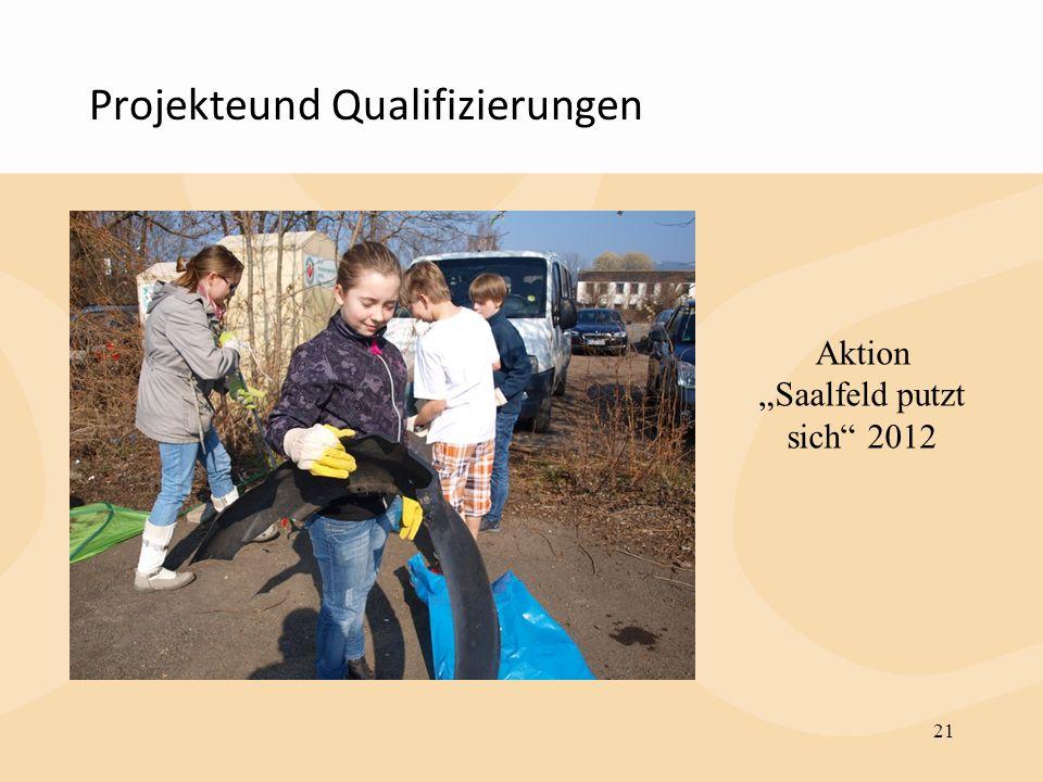 Projekteund Qualifizierungen 21 Aktion Saalfeld putzt sich 2012