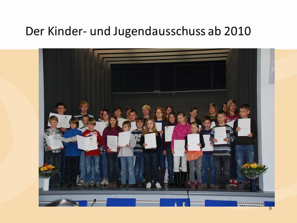 Der Kinder- und Jugendausschuss ab 2010 9