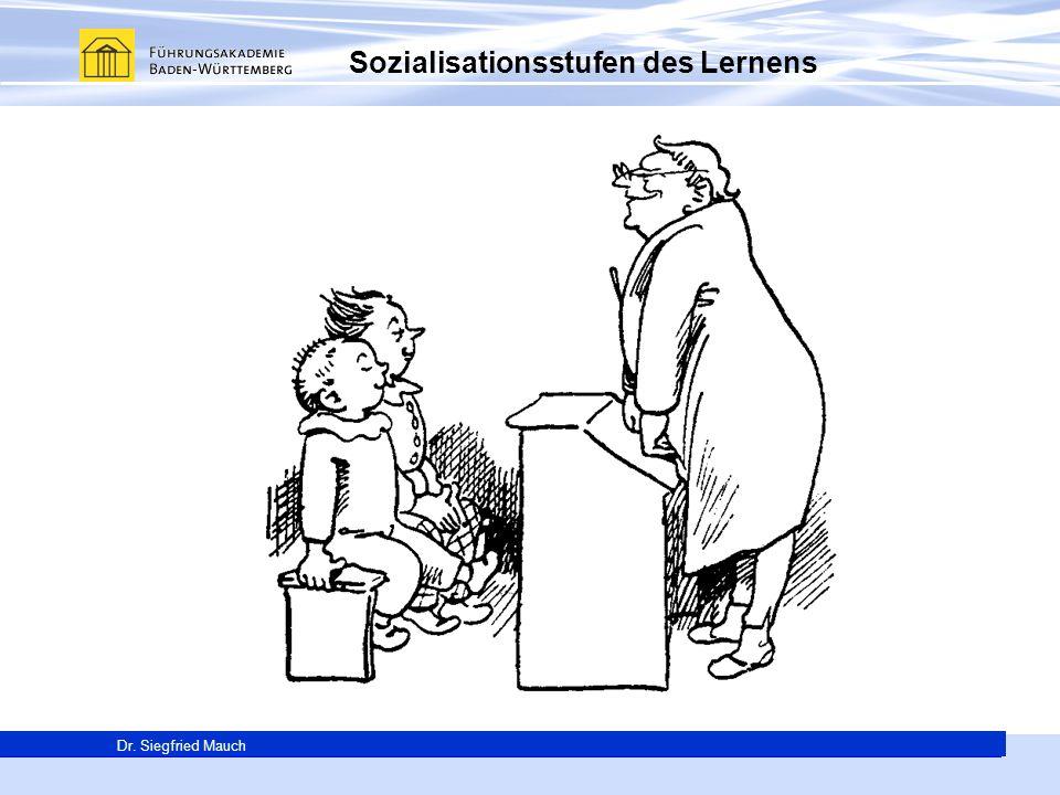 Generalsekretär Thomas E. Berg Dr. Siegfried Mauch Sozialisationsstufen des Lernens