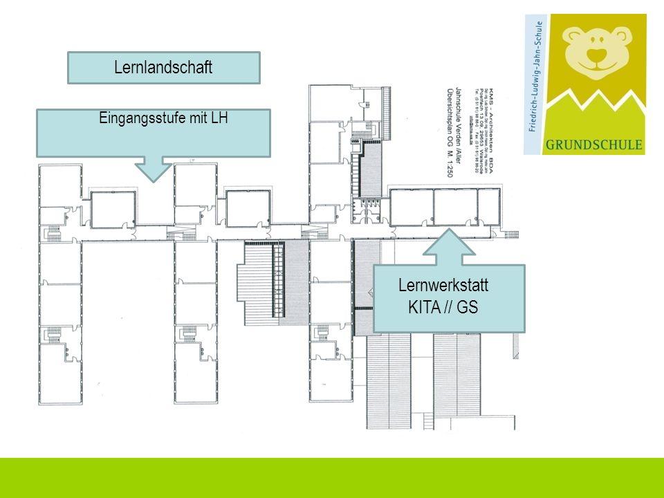Lernlandschaft Eingangsstufe mit LH Lernwerkstatt KITA // GS