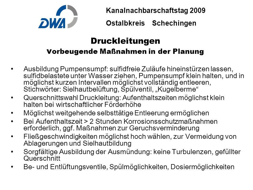 Kanalnachbarschaftstag 2009 Ostalbkreis Schechingen DWA 2009 ble.ppt 29. Okt.2009 DWA-03-06 INGENIEURBÜRO BÄUERLE & PARTNER Druckleitungen v orbeugend