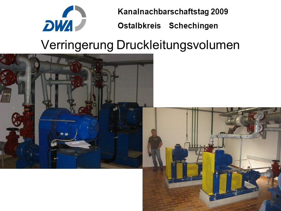 Kanalnachbarschaftstag 2009 Ostalbkreis Schechingen DWA 2009 ble.ppt 29. Okt.2009 DWA-03-06 INGENIEURBÜRO BÄUERLE & PARTNER Verringerung Druckleitungs