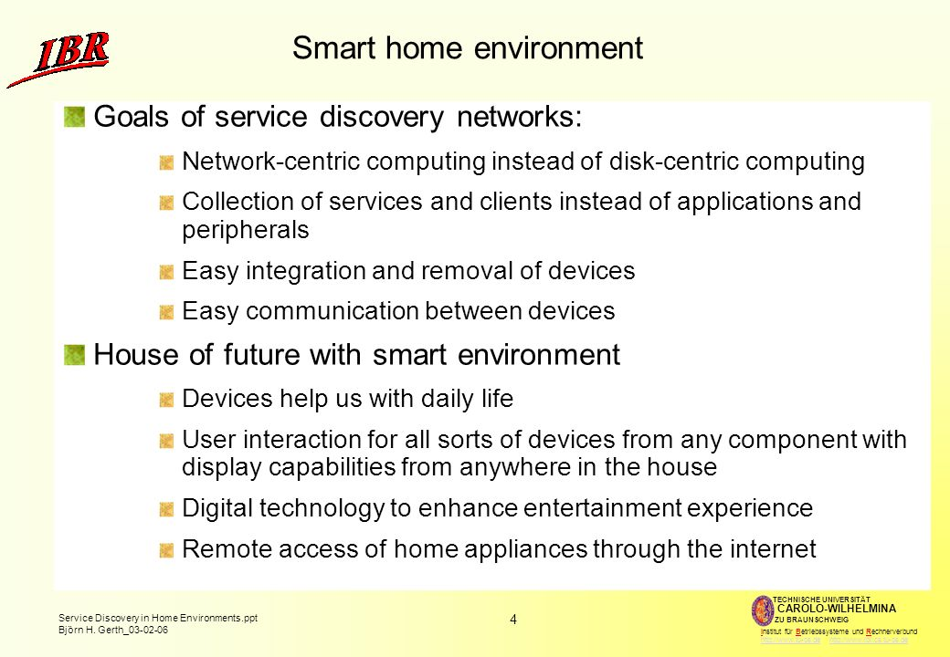 15 Service Discovery in Home Environments.ppt Björn H.