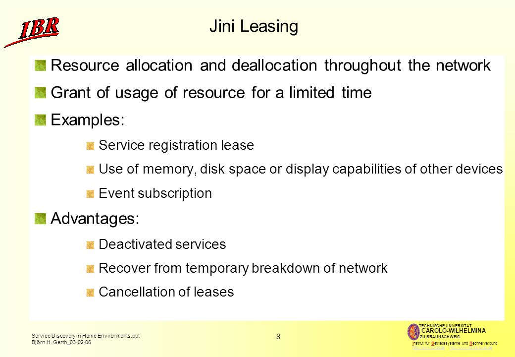 9 Service Discovery in Home Environments.ppt Björn H.