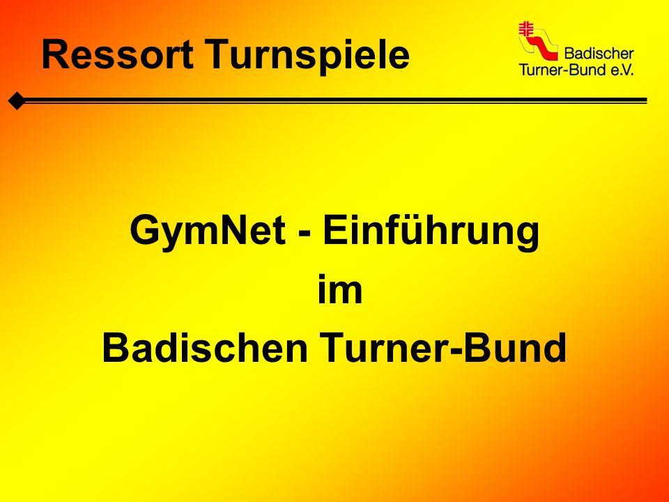 Ressort Turnspiele Beschluss des BV Wettkampfsport: 11.02.2012 beschließt der BV Wettkampfsport in seiner Sitzung, dass ab 2013 alle Meldungen zu den Wettkämpfen und Spielrunden über das Meldetool dtb-gymnet.de abgewickelt werden.