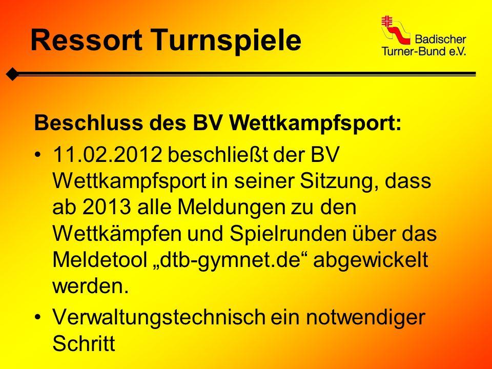 Meldungen über das GymNet: www.dtb-gymnet.de Ressort Turnspiele