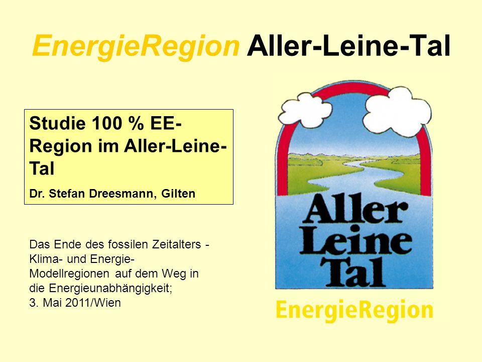 EnergieRegion Aller-Leine-Tal Studie 100 % EE- Region im Aller-Leine- Tal Dr. Stefan Dreesmann, Gilten Das Ende des fossilen Zeitalters - Klima- und E