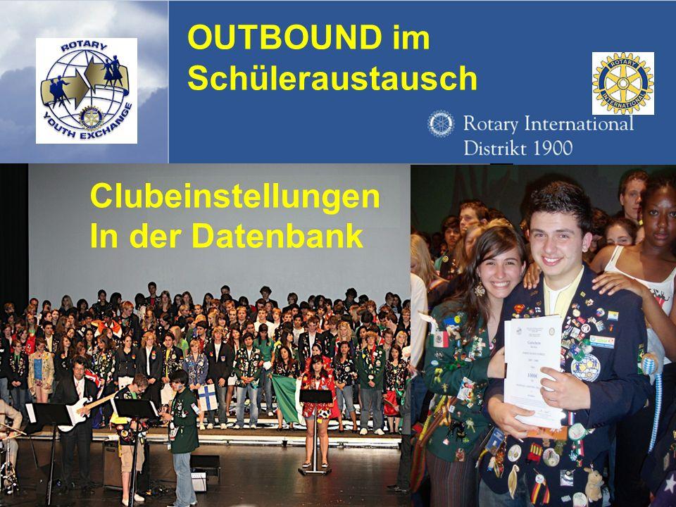 Referent: Martin EggertJugenddienst D1900: Vortragsthema 1.Clubdaten erscheinen zur Kontrolle bzw.