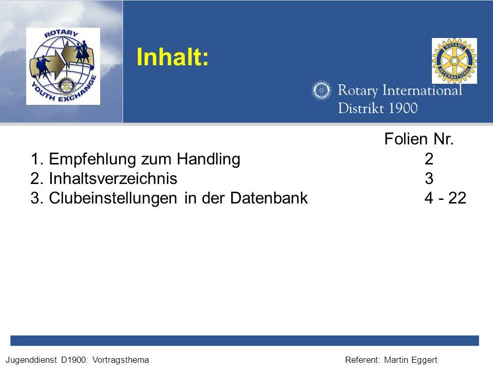 Referent: Martin EggertJugenddienst D1900: Vortragsthema Bitte geben Sie die E-Mail Adresse korrekt ein.