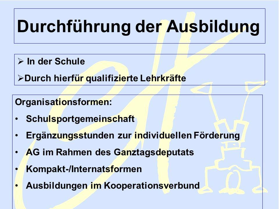 Sportjugend NRW Lehmann FV Februar 2006 Sporthelfer 5 Durchführung der Ausbildung In der Schule Durch hierfür qualifizierte Lehrkräfte Organisationsfo