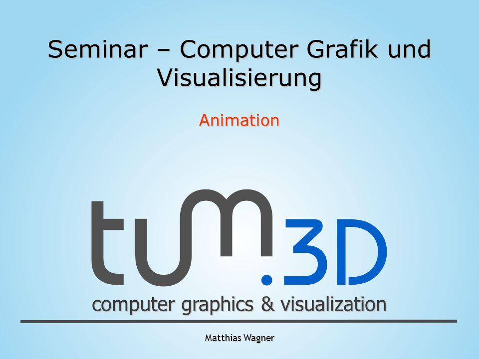 computer graphics & visualization Matthias Wagner Übersicht - Einführung in die Animation - Ursprünge - Grundlagen - Animationstechniken - Procedural Animation - Articulated Structures - Motion Capturing
