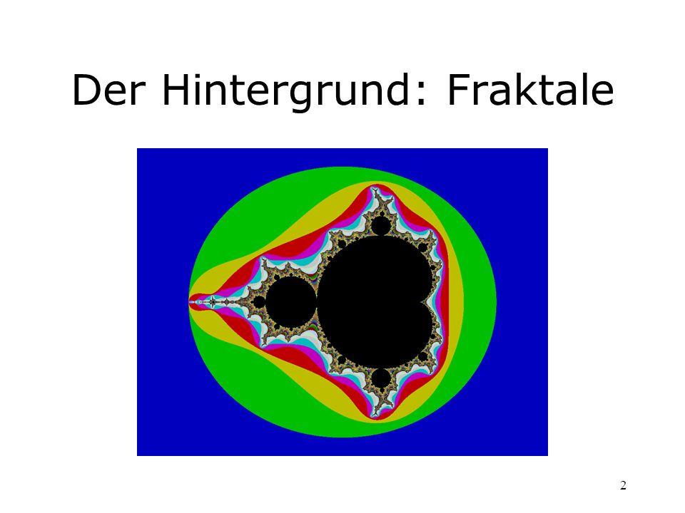 2 Der Hintergrund: Fraktale