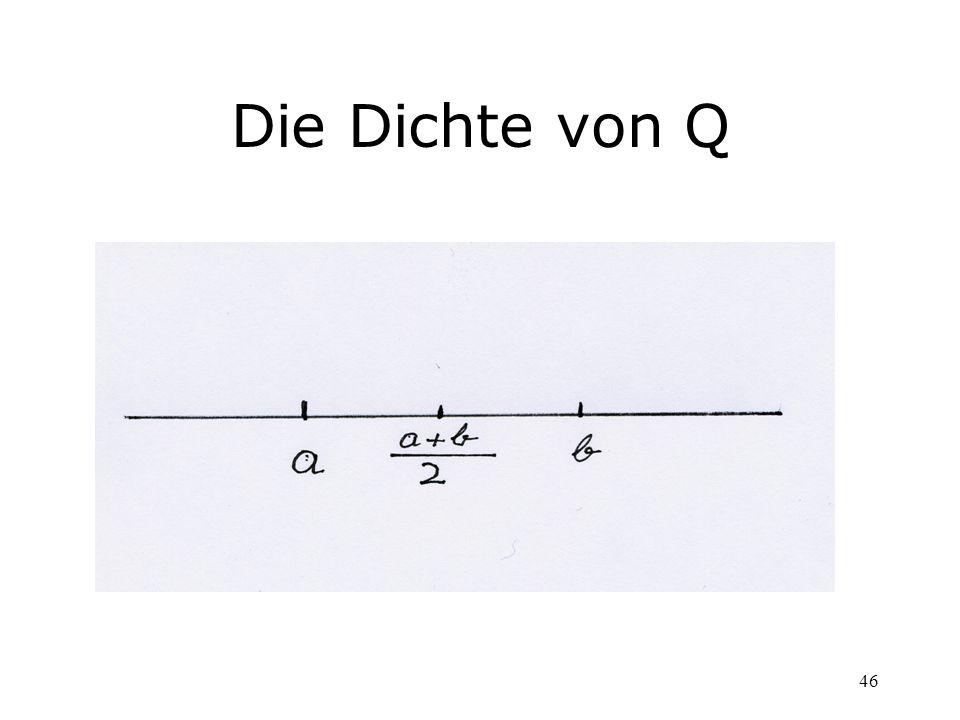 46 Die Dichte von Q