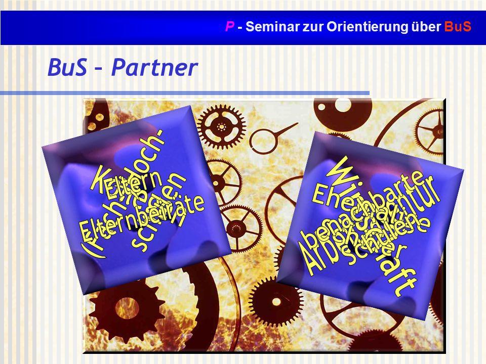P - Seminar zur Orientierung über BuS BuS – Partner