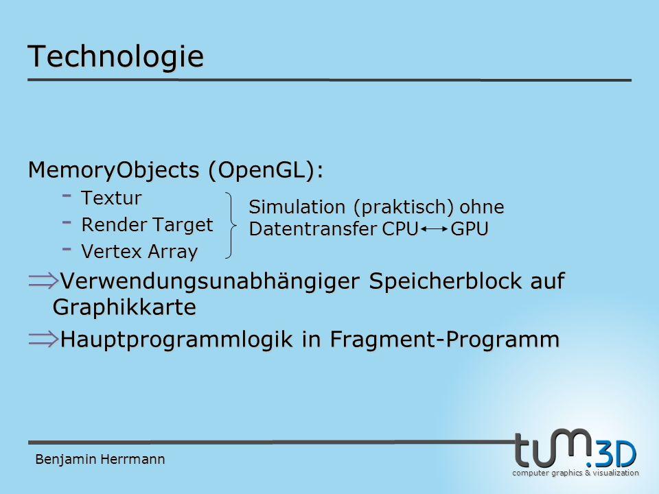 computer graphics & visualization Benjamin Herrmann Danke für die Aufmerksamkeit! Fragen?
