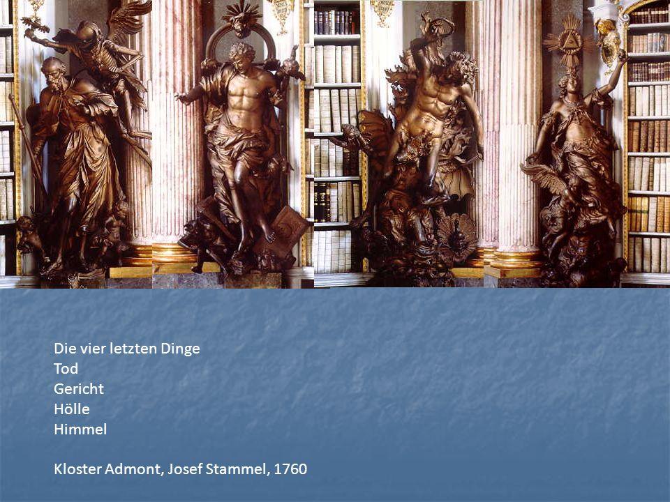 Die vier letzten Dinge Tod Gericht Hölle Himmel Kloster Admont, Josef Stammel, 1760