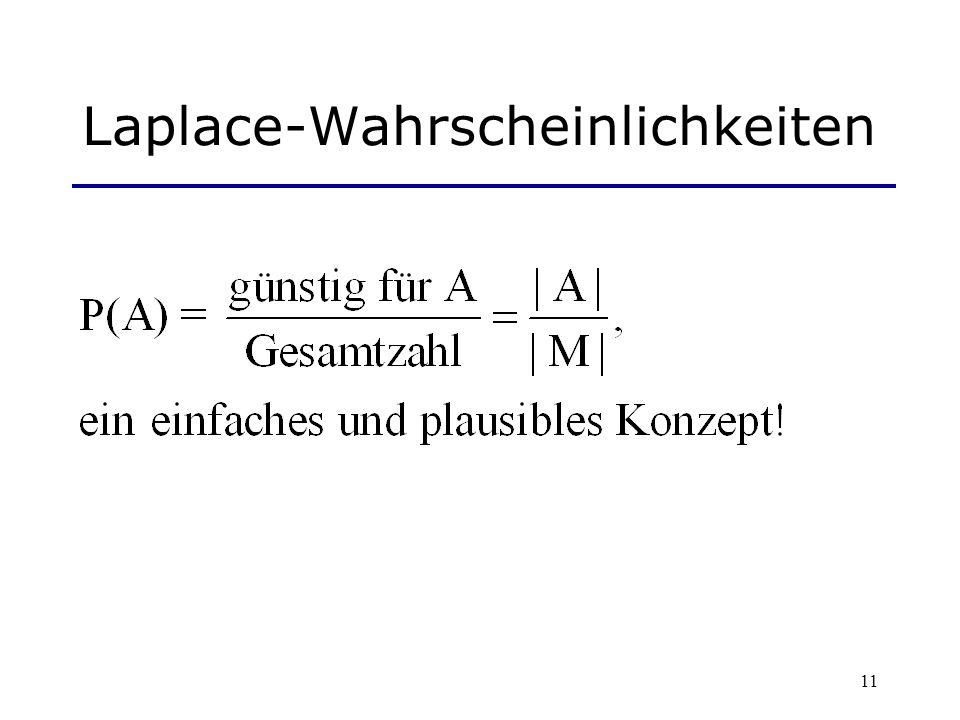 11 Laplace-Wahrscheinlichkeiten