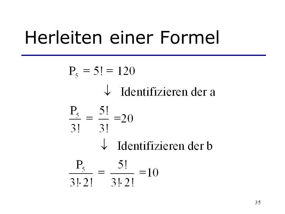 35 Herleiten einer Formel