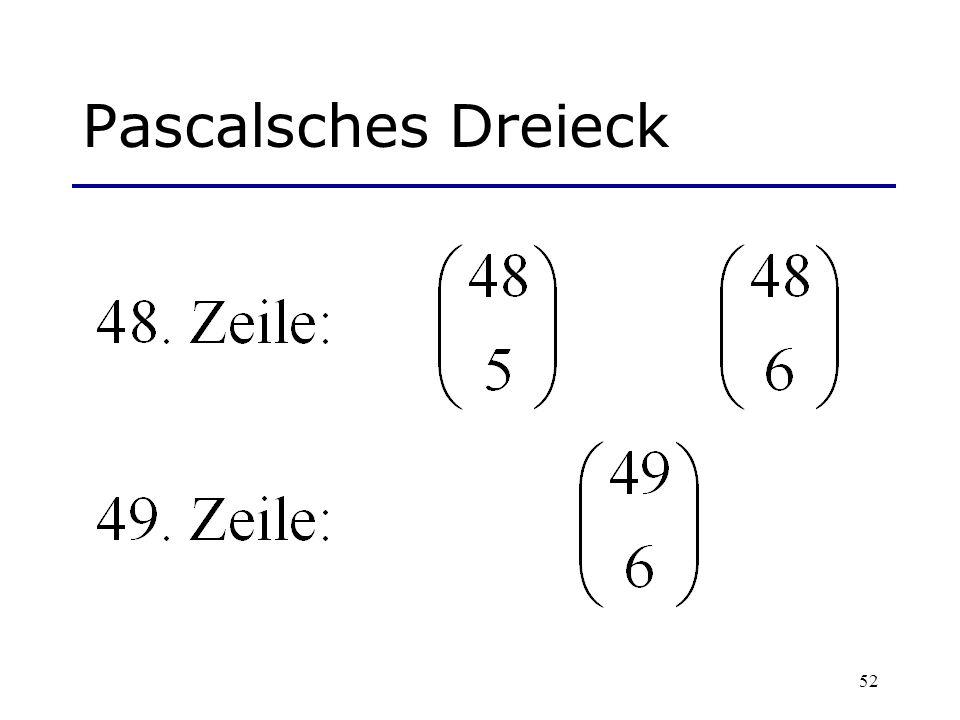 52 Pascalsches Dreieck