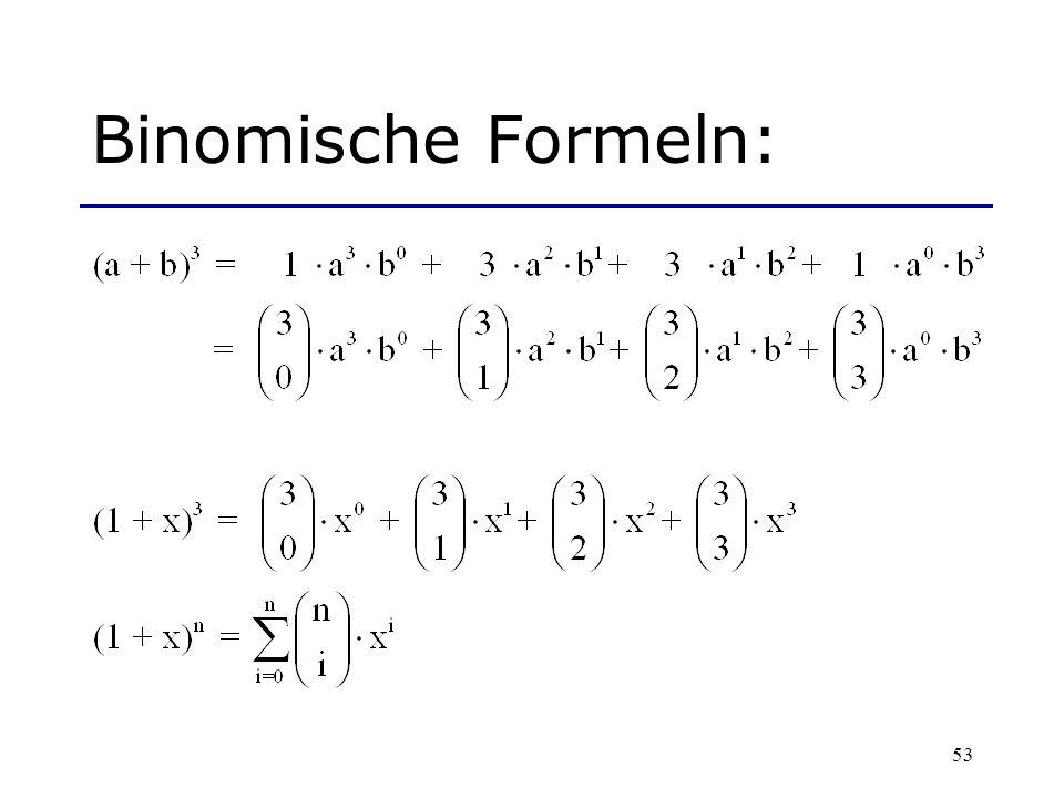 53 Binomische Formeln: