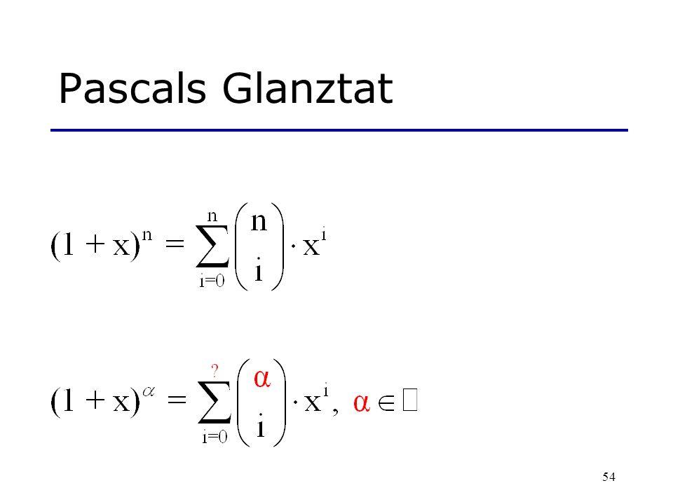 54 Pascals Glanztat
