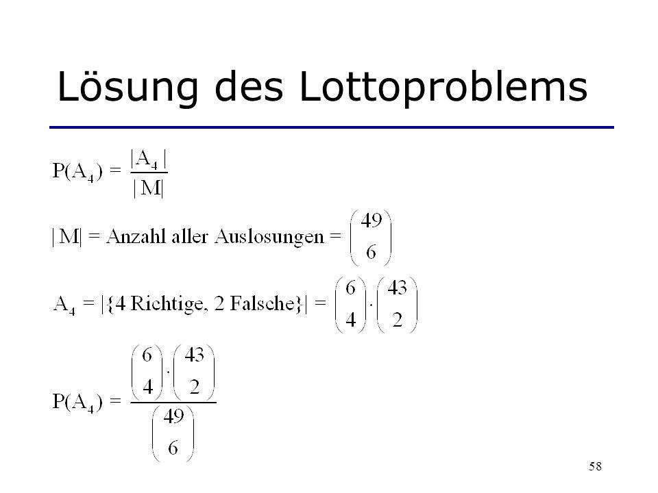 58 Lösung des Lottoproblems