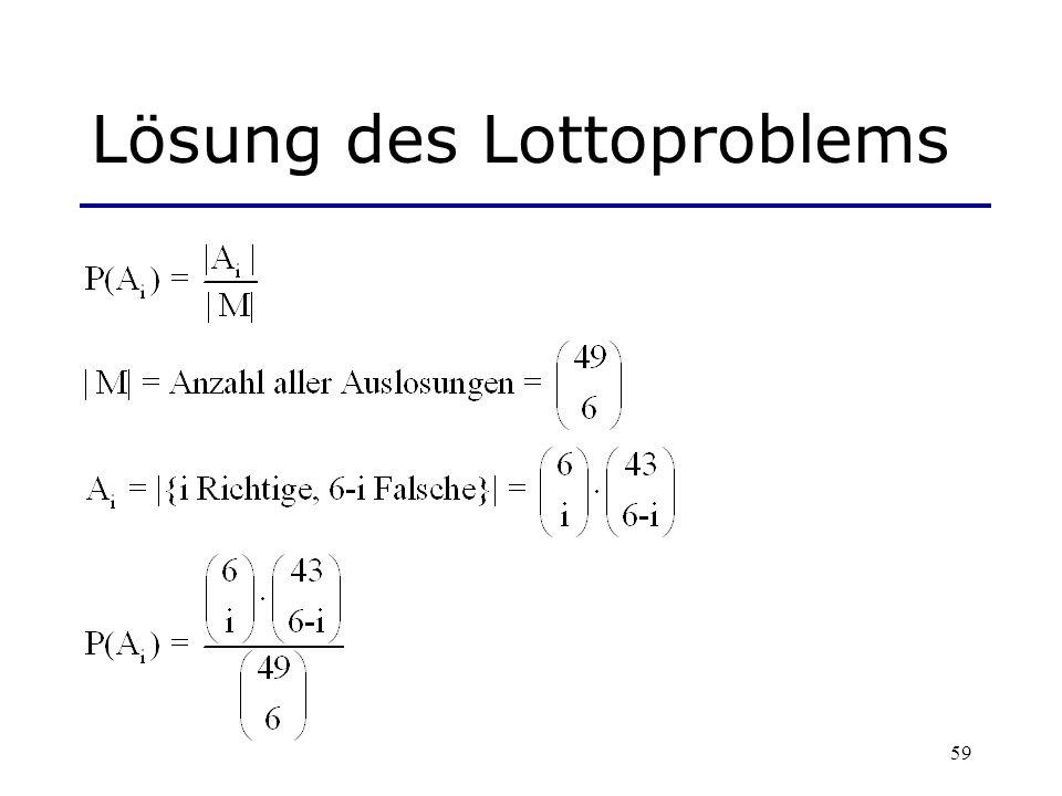 59 Lösung des Lottoproblems