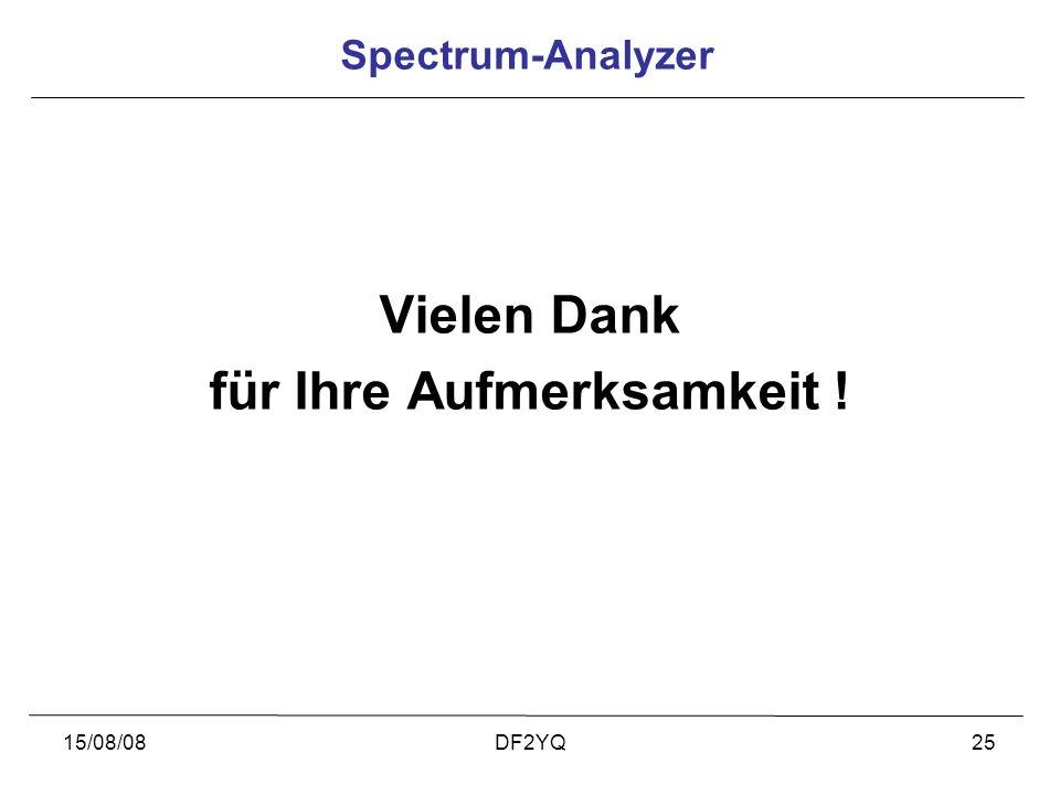 15/08/08DF2YQ25 Vielen Dank für Ihre Aufmerksamkeit ! Spectrum-Analyzer