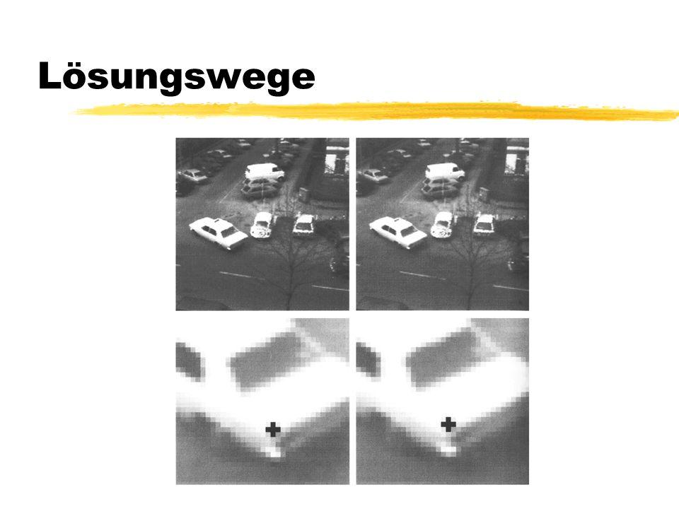 15 Lösungswege Zu bestimmen ist eine Bildfunktion, die Pixel auf jeweils einen Wert abbildet Diese nennt man Bildirradianz E (x, y, t i ) von Bild E i