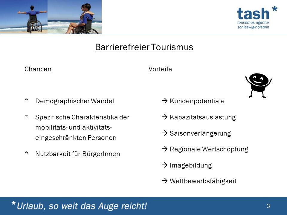 Barrierefreier Tourismus Chancen *Demographischer Wandel *Spezifische Charakteristika der mobilitäts- und aktivitäts- eingeschränkten Personen *Nutzba