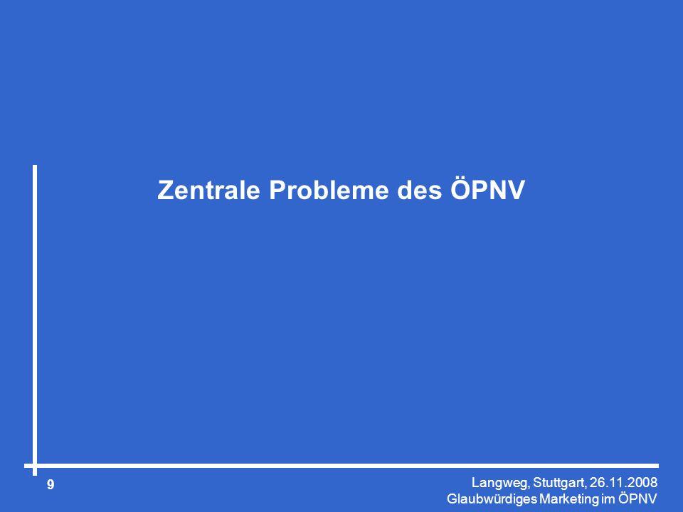 Langweg, Stuttgart, 26.11.2008 Glaubwürdiges Marketing im ÖPNV 40 Das Wichtigste in Kürze Marketing ist die Ausrichtung des Handelns an den Bedürfnissen der potenziellen Kunden.