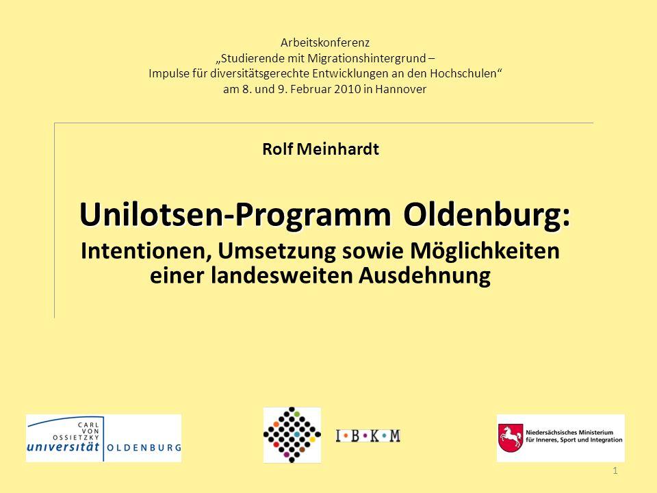 Arbeitskonferenz Studierende mit Migrationshintergrund – Impulse für diversitätsgerechte Entwicklungen an den Hochschulen am 8. und 9. Februar 2010 in