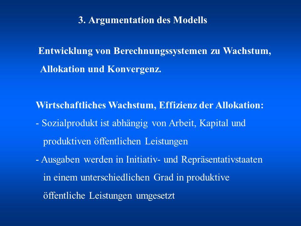 3. Argumentation des Modells Entwicklung von Berechnungssystemen zu Wachstum, Allokation und Konvergenz. Wirtschaftliches Wachstum, Effizienz der Allo