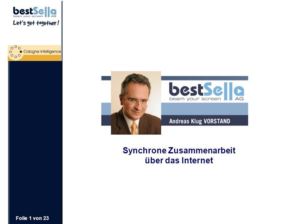 Folie 1 von 23 Synchrone Zusammenarbeit über das Internet