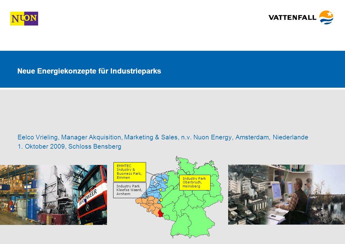 1 Neue Energiekonzepte für Industrieparks Eelco Vrieling, Manager Akquisition, Marketing & Sales, n.v.
