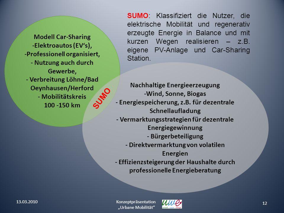 Modell Car-Sharing -Elektroautos (EVs), -Professionell organisiert, - Nutzung auch durch Gewerbe, - Verbreitung Löhne/Bad Oeynhausen/Herford - Mobilit