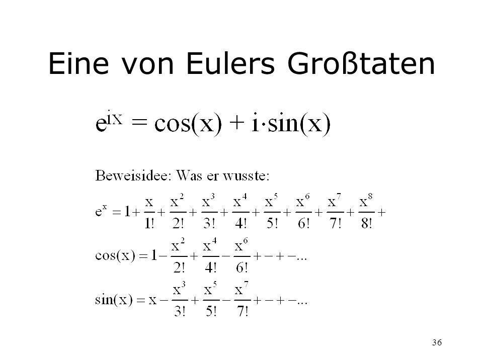 36 Eine von Eulers Großtaten