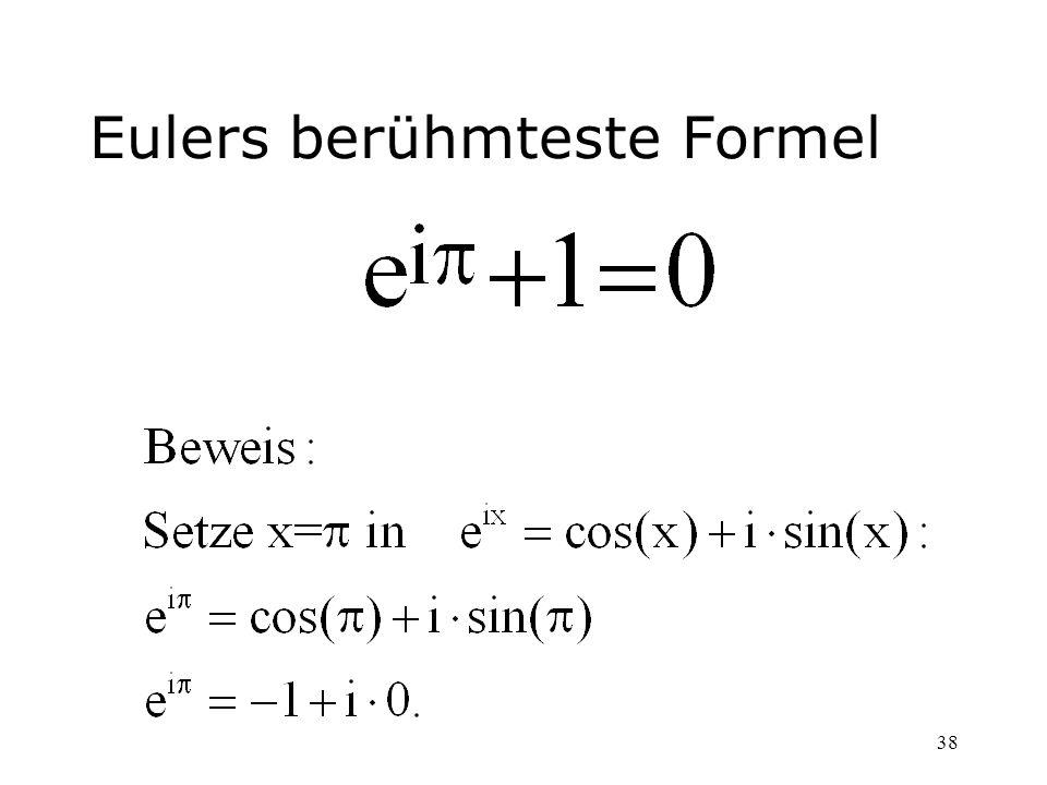 38 Eulers berühmteste Formel
