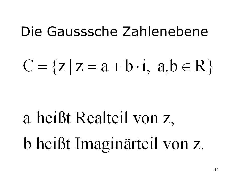 44 Die Gausssche Zahlenebene