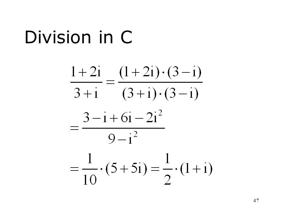 47 Division in C