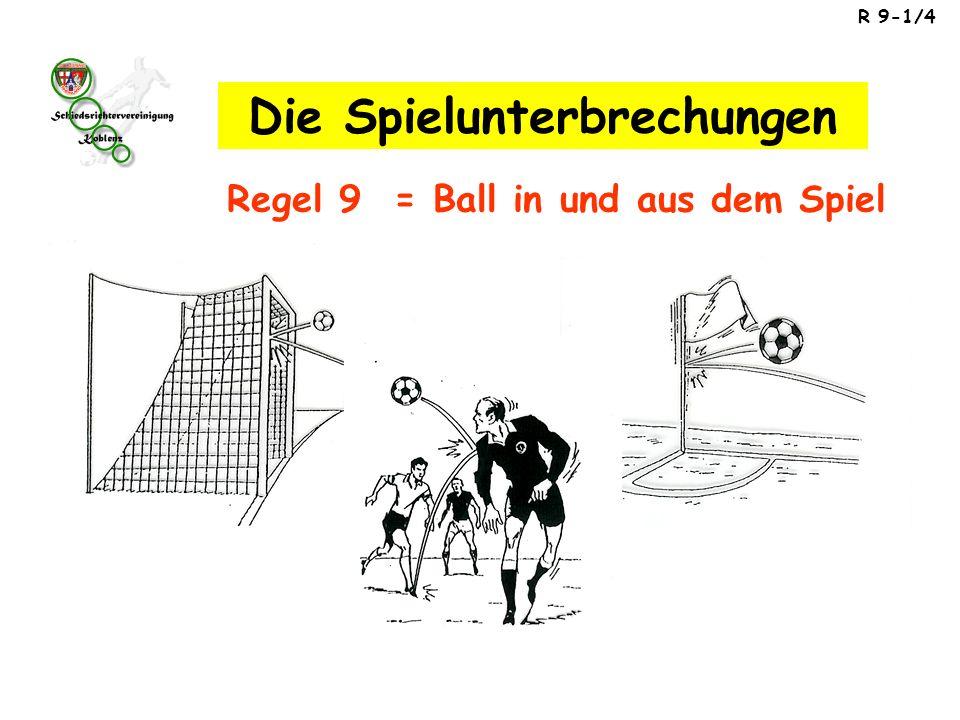 R 9-1/4 Regel 9 = Ball in und aus dem Spiel Die Spielunterbrechungen
