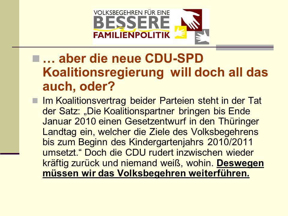 … aber die neue CDU-SPD Koalitionsregierung will doch all das auch, oder? Im Koalitionsvertrag beider Parteien steht in der Tat der Satz: Die Koalitio