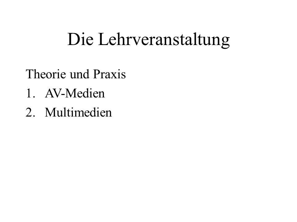 Die Lehrveranstaltung Theorie und Praxis 1.AV-Medien 2.Multimedien