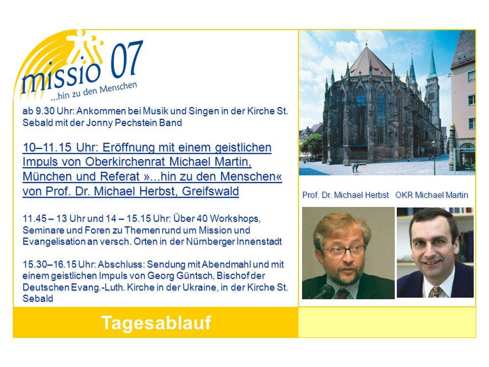 Tagesablauf ab 9.30 Uhr: Ankommen bei Musik und Singen in der Kirche St.