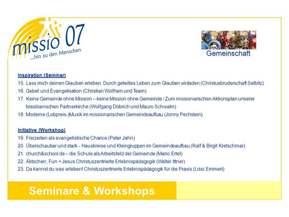 Seminare & Workshops Inspiration (Seminar) 15. Lass mich deinen Glauben erleben. Durch geteiltes Leben zum Glauben einladen (Christusbruderschaft Selb